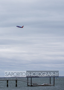 Southwest 737 departing BOS