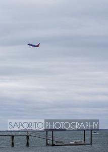 Southwest 737 departing BOS