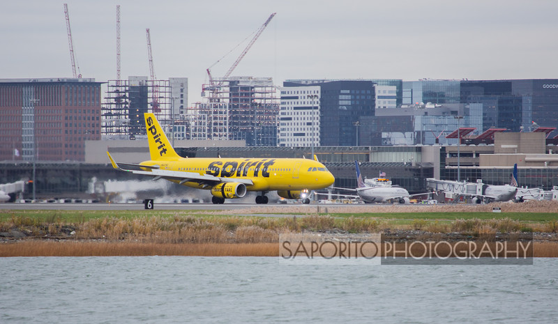 Spirit A-320 rolling out BOS