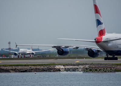 Japan 787 departing near Speedbird A380