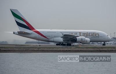 Emirates A-380's Boston Debut