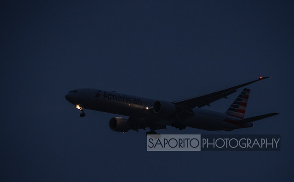 American 777 pre-dawn