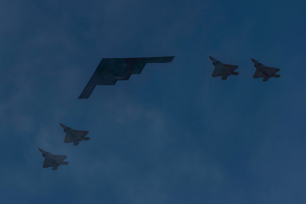 B-2 with F-35s
