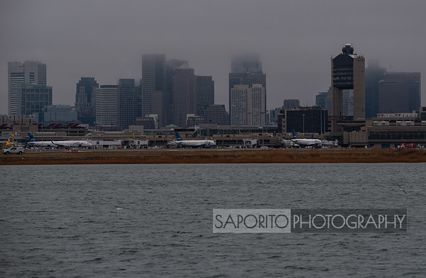 JetBlue and the Boston Skyline