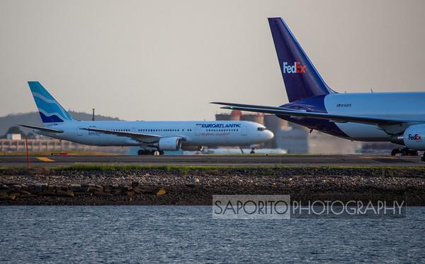 Two 767s at BOS