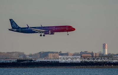 Alaska Airlines A321 on short final