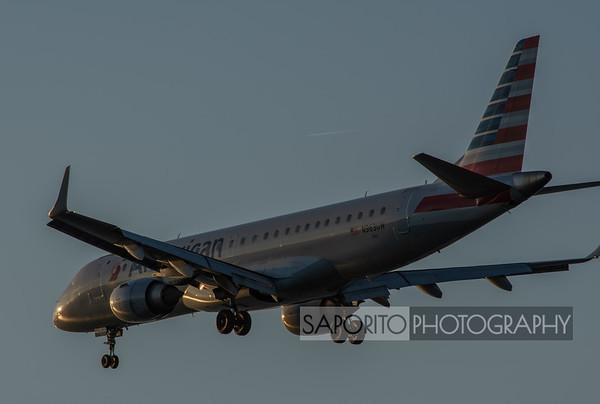 American Embraer E190 landing