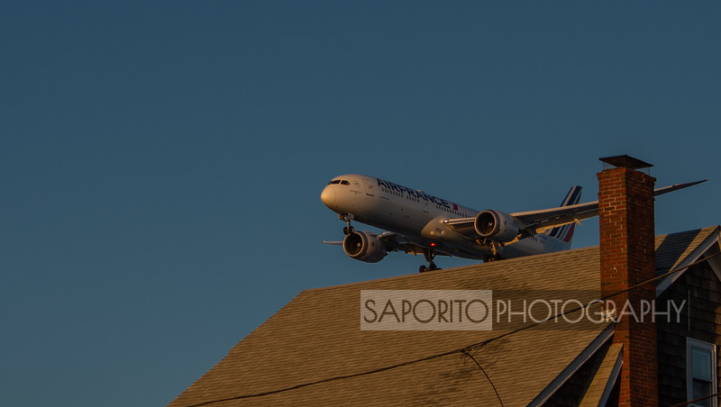 Air France 787-9 on the roof
