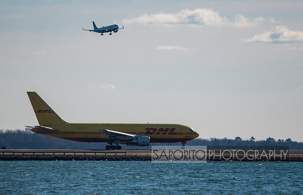 DHL 767-200 and JetBlue E190