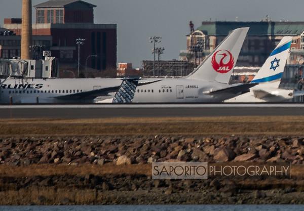 JAL 787 with El Al 777