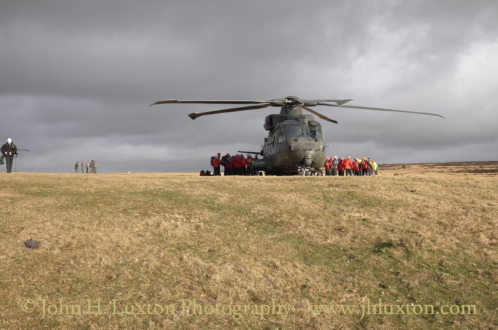 846 Naval Air Squadron AgustaWestland AW101 at Pork Hill, Dartmoor - April 07, 2016