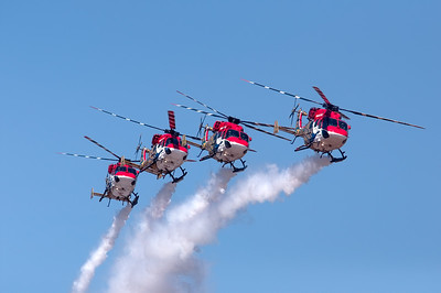 Sarang Helicopter Aerobatic team from the IAF re-defining formation flying