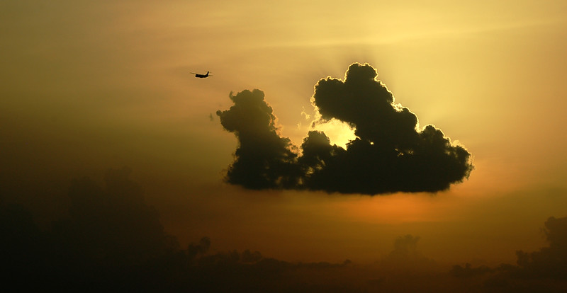 Dogie Clouds watch ATR fly out of Bengaluru International Airport.