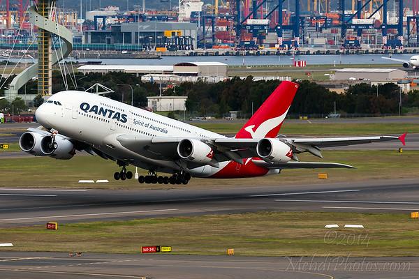 QF A380 VH-OQJ QF1 (DXB-LHR)