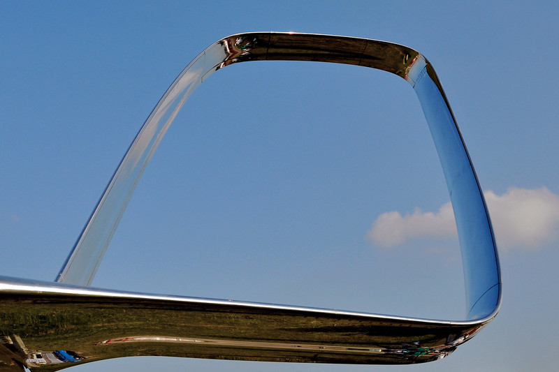 The spiroid winglet, mounted on Aviation Partners' president Joe Clark's Falcon 50 (N789JC).