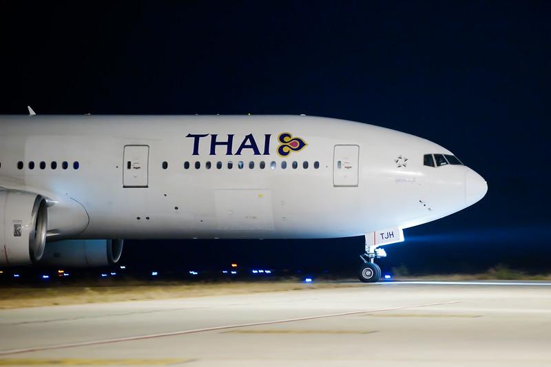 Thai Air at BIAL - shot Hand Held ISO 3200