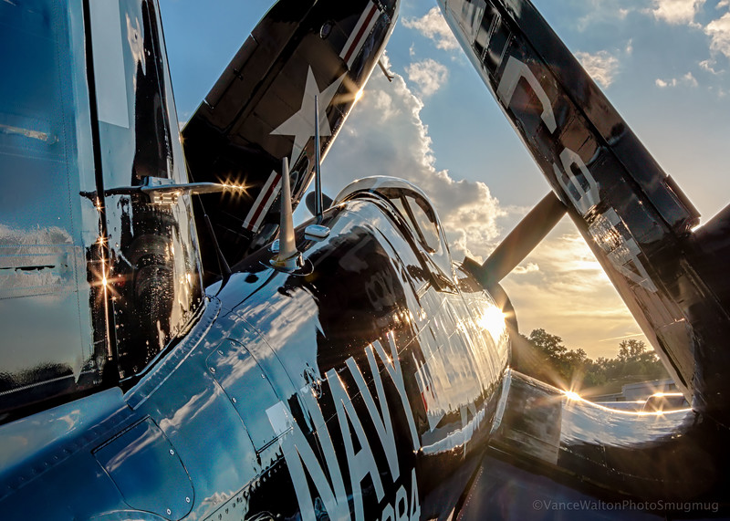 Warm  Evening Sun Danceing On This Corsair