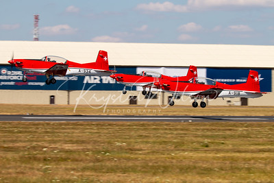 SAF PC-7 Team Formation Take Off At RIAT 2018