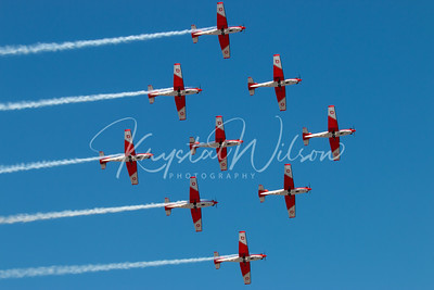 SAF PC-7 Team Performs 9-Ship Formation At RIAT 2018