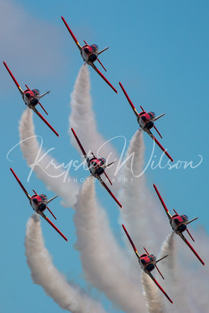 SPAF Patrulla Aguila 7 Ship Formation At RIAT 2018