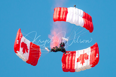 RCAF Skyhawks Perform At Cold Lake Air Show 2016