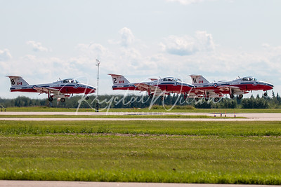 RCAF Snowbirds 5 Ship Formation Take Off At Cold Lake Airshow 2018