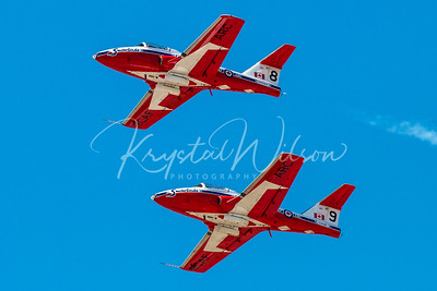RCAF Snowbirds Solos Pass Over At Cold Lake Airshow 2018