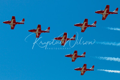 RCAF Snowbirds Perform 7 Ship 'Goose' Formation At Cold Lake Airshow 2018