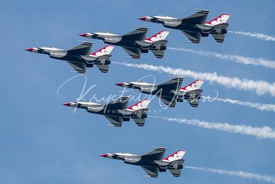 USAF Thunderbirds Perform 6-Ship Formation At CIAS 2018