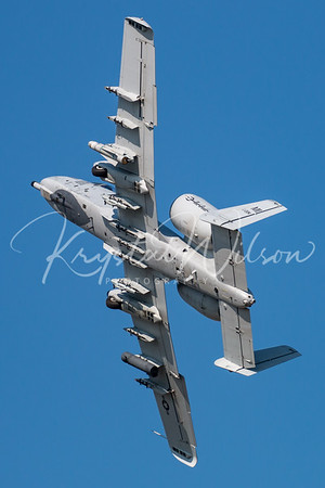 "US ANG A-10 Thunderbolt II Assigned To 107th FS ""Red Devils"" At Airshow London 2017"