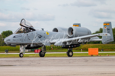USAF A-10 Thunderbolt II Assigned To 357th FS 'Dragons' At Airshow London Arrivals 2018