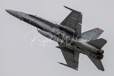 RCAF CF-18 Hornet Assigned To 433 'Porcupine' Sqn At Airshow London 2018