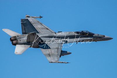 RCAF CF-18 Hornet Assigned To 409 'Nighthawks' Sqn At CFB Cold Lake 2019