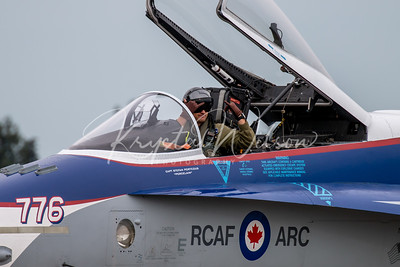 RCAF CF-18 Demo Hornet At Airshow London 2018