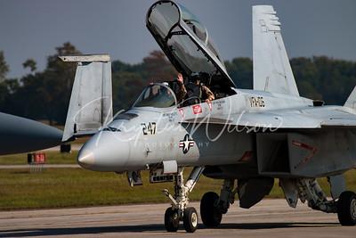 USAF F-18 Super Hornet Demo Team At Airshow London 2017