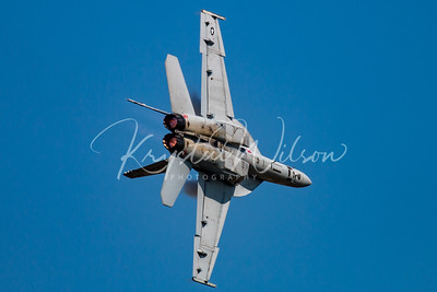 USAF F-18 Super Hornet Demo Team Performs At Airshow London 2017