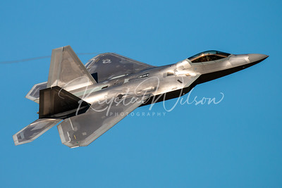 USAF F-22 Raptor Demo Team At Cold Lake Air Show Departures 2018