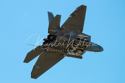 USAF F-22 Raptor Demo Team Performs At Cold Lake Air Show 2018