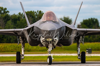 USAF F-35 Lightning II From Luke AFB At Airshow London Arrivals 2018