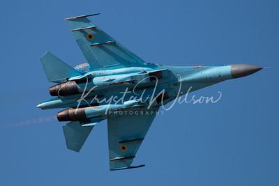 Ukrainian Air Force Su-27 Flanker At RIAT 2018