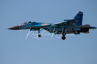Ukrainian Air Force Su-27 Flanker At RIAT 2018