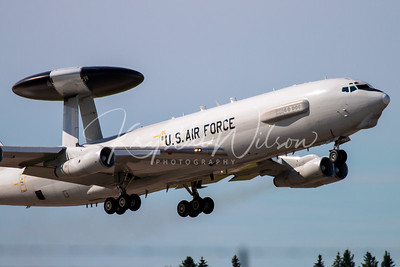 USAF E-3 Sentry (AWACS) Assigned To 552nd ACW At Cold Lake Air Show 2018