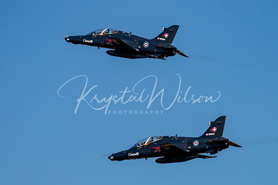 2 RCAF CT-155 Hawk Assigned To 2 CFFTS At Airshow London 2017