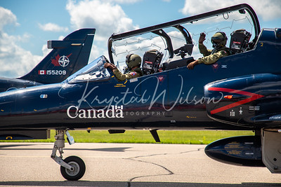 RCAF CT-155 Hawk Assigned To 419 Sqn At Cold Lake Air Show 2018