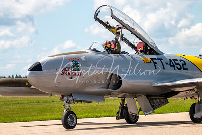 "Lockheed T-33 T-Bird ""Ace Maker"" At Cold Lake Air Show 2018"