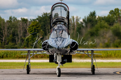 """USAF T-38 Talon Assigned To 13th BS """"The Devils Own Grim Reapers"""" At Airshow London 2018"""