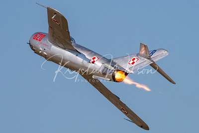 Randy Ball MiG-17 At Airshow London 2017