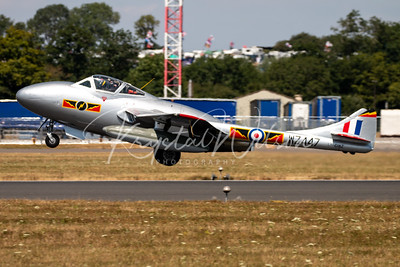 Norwegian Air Force Historical Squadron's Vampire At RIAT 2018