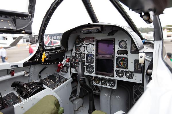 Navy jet trainer cockpit.  T-2 Buckeye.