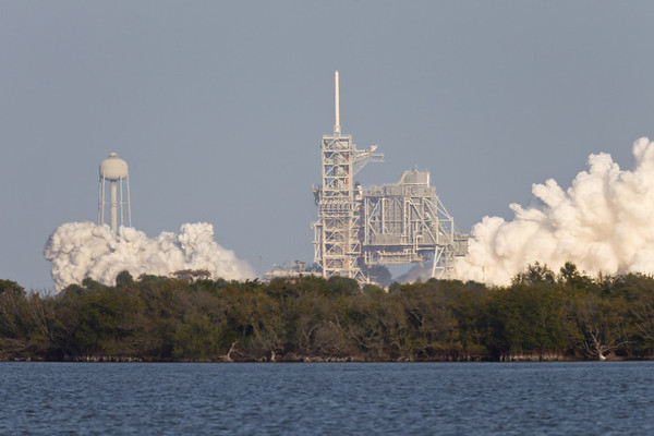 If you look at the nose of the shuttle, you can see it starting to rise.